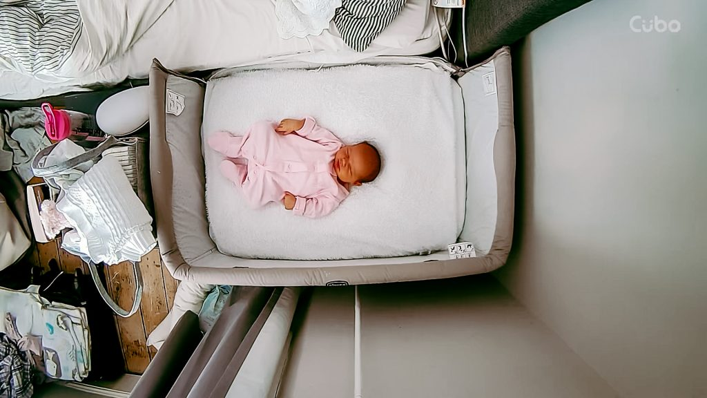 Image of baby in crib | Cubo Ai Review